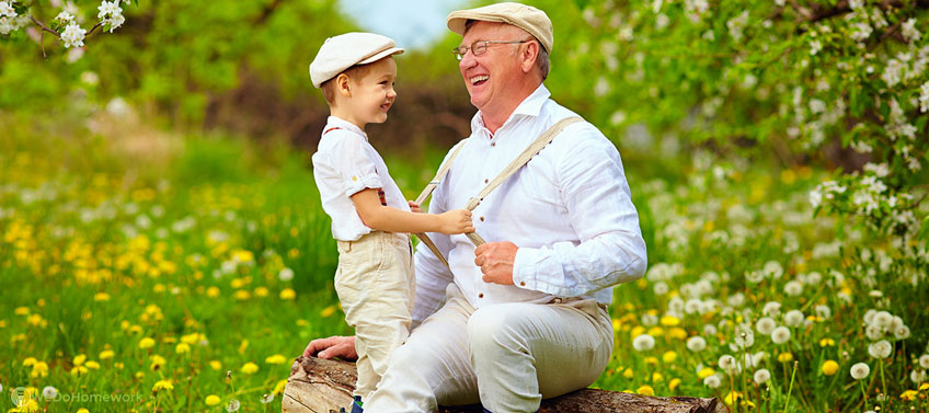 Child with Grandpa